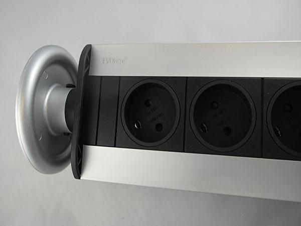 Image of   Evoline Powerport 3 DK stik med jord