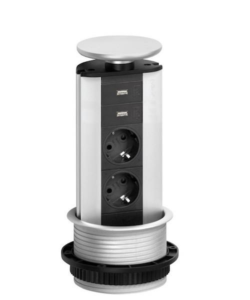 Image of   Evoline Powerport 2 stik med 2 usb
