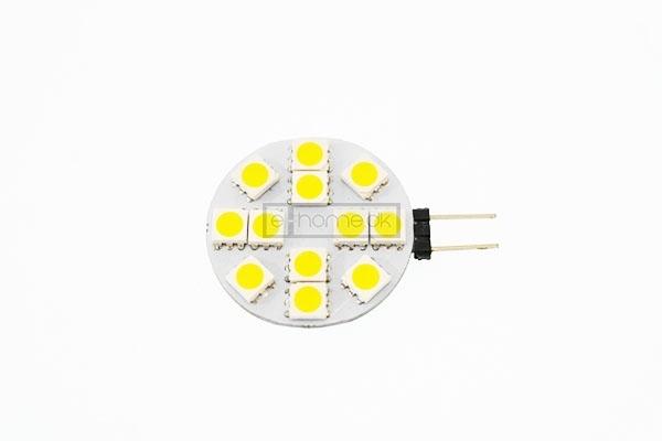 Image of   G4 LED flad 2W 12v varm hvid
