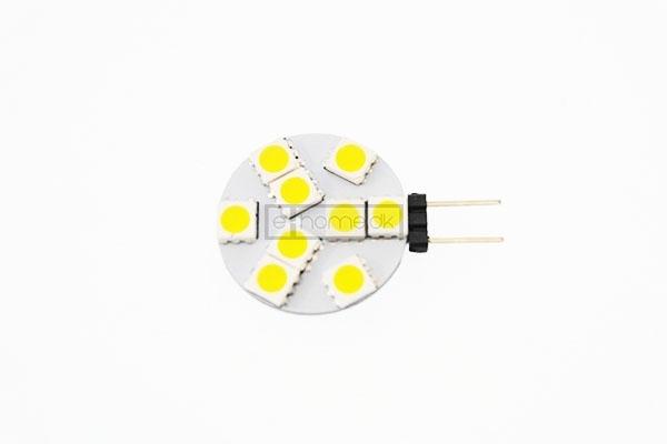 G4 LED flad 1,2W 12v varm hvid