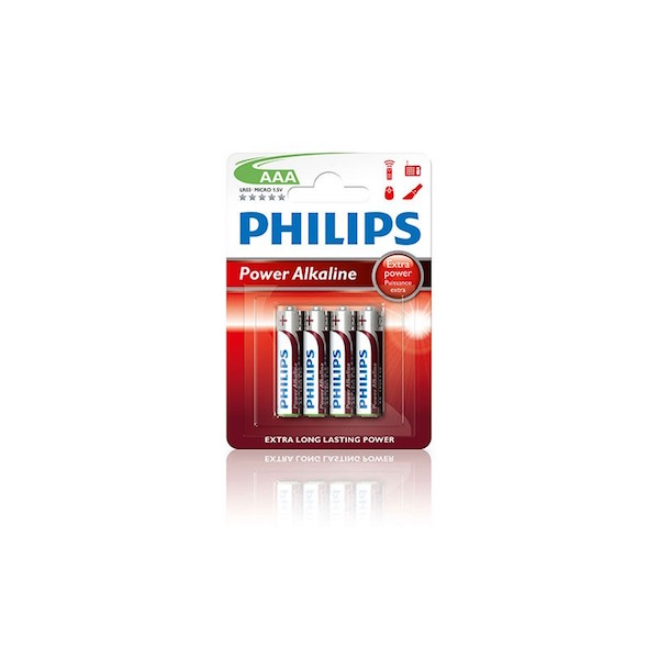 Philips AAA batterier 4 stk.