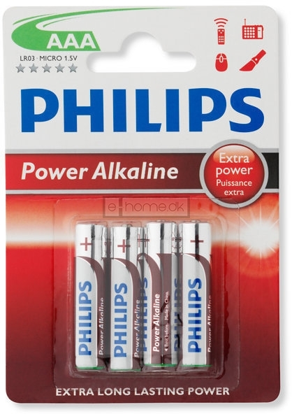 Image of   Philips AAA batteri 4 stk.