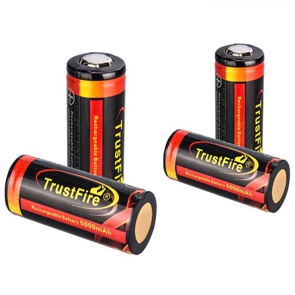 Image of   4 stk. Trustfire Gold 26650 Batterier