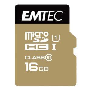 MicroSDHC 16GB EMTEC +Adapter CL10
