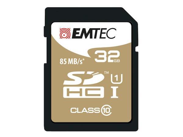SDHC 32GB Emtec CL10 Gold