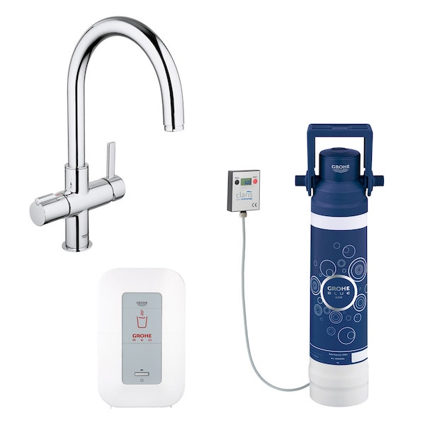 Image of   GROHE RED DUO KROM 4 L ARMATUR C-TUD INKL FILTER SÆT