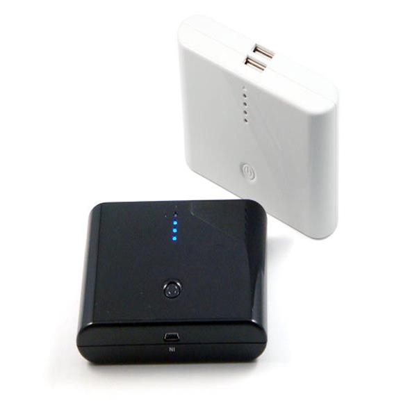 Image of   Powerbank 12000 mAh Sort/Hvid
