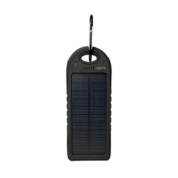 solar powerbank logilink 5000 mah med dual usb oplader. Black Bedroom Furniture Sets. Home Design Ideas