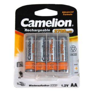 Genopladelige AA batterier 2700mAh