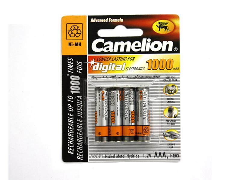 Image of   Akku Camelion AAA Micro 1000mAH (4 Stk)