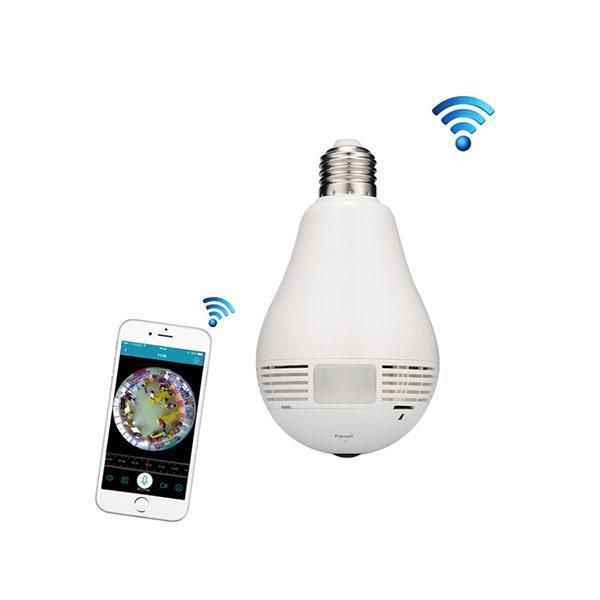 LED Pære med 360° overvågningskamera