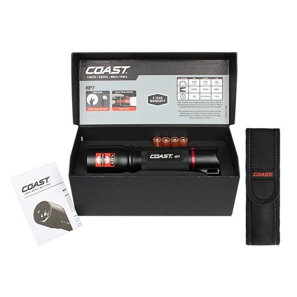 Image of   COAST HP7 håndlygte (410 lumen) - i gaveæske