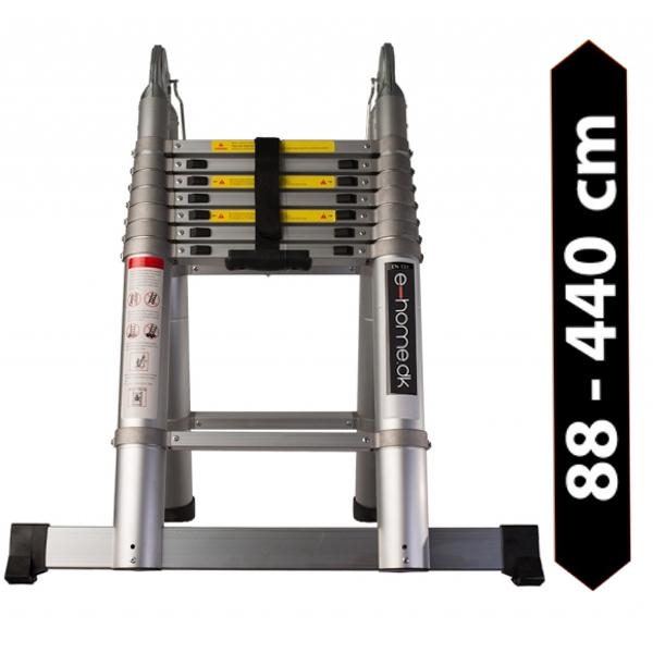 Foldbar Teleskopstige PRO 4,4 meter