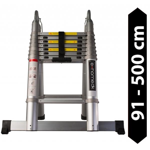 Foldbar Teleskopstige PRO 5,0 meter