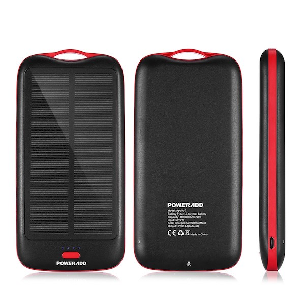 Image of   Powerbank Apollo 2 10.000mAh med Solcellepanel