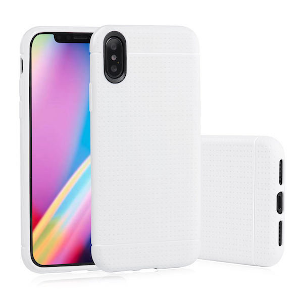 Iphone X mobiltelefon cover Soft TPU - Hvid