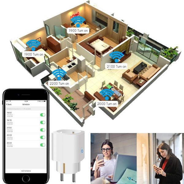 Smart Wi-Fi stikkontakt med forbrugs måling