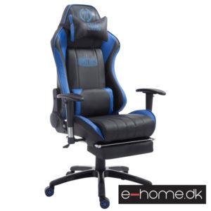 Gamer kontorstol Blå:Sort med fodstøtte PU-Læder_1925907101_e-home