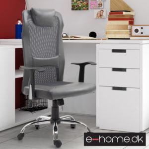 Kontorstol i ergonomisk design med luftig ryg_Grå_921-141GY_e-home