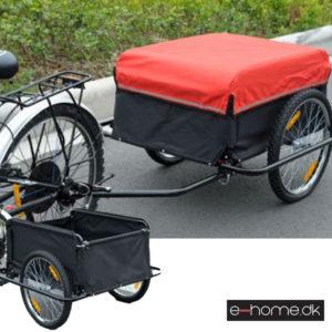 Cykelanhænger sort og rød_e5550-3432_e-home