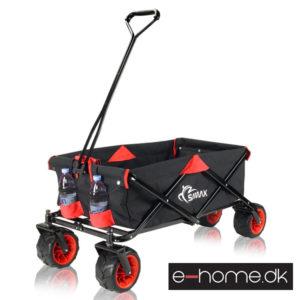 Foldbar-Trækvogn-Rød_Sort-med-kølebox_400019