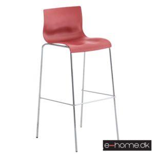 Barstol Hoover_ kunststof rød_ stel krom_101893805_e-home