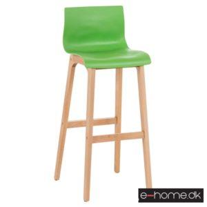 Barstol Hoover, kunststof grøn, stel træ_101893034_e-home