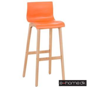 Barstol Hoover kunststof orange stel træ_101893309_e-home