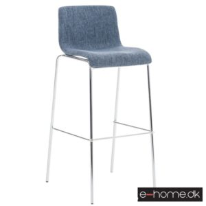 Barstol Hoover stof blå stel krom_e-home_301325