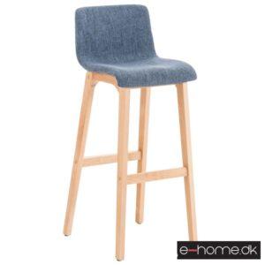 Barstol Hoover stof blå stel træ_e-home_301317