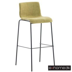 Barstol Hoover stof lysegrøn stel sort_301726_e-home