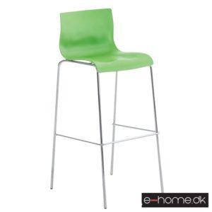 Barstol Hoover_ kunststof grøn_ stel krom_101893634_e-home