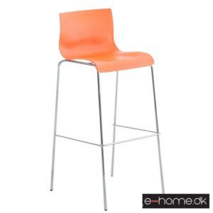 Barstol Hoover_ kunststof orange_ stel krom_101893909_e-home