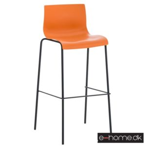 Barstol Hoover_ kunststof orange_stel sort_301720_e-home