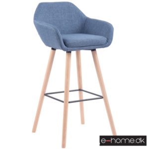 Barstol model Adelaide_stof blå_ben natur_308828_e-home