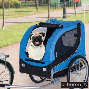 Cykeltrailer - Hundetrailer - Sort - blå - B4-0003-008 - e-home_TITEL