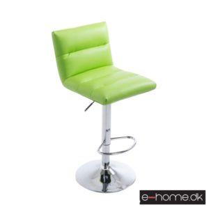 Barstol Limerick_kunstlæder grøn_fod krom_101628634_e-home