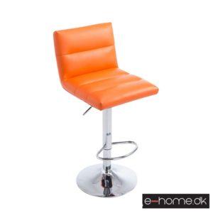 Barstol Limerick_kunstlæder orange_fod krom_101628909_e-home