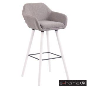 Barstol model Adelaide_stof grå_ben hvid_308865_e-home
