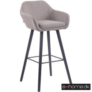 Barstol model Adelaide_stof grå_ben sort_308843_e-home