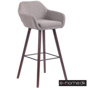 Barstol model Adelaide_stof grå_ben valnød_308854_e-home