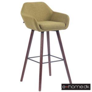 Barstol model Adelaide_stof grøn_ben valnød_308855_e-home
