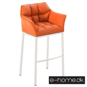 Barstol Damaso E_Orange_4 ben_ hvidt stel_301785_e-home
