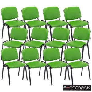 Stabelstole_12ersæt_Ken_Kunstlæder_Grøn_313033_e-home
