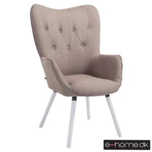 Lounger Aalborg hvide ben gråbrun stof 172056124_e-home_TITEL
