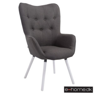 Lounger Aalborg hvide ben mørkegrå stof 172056301_e-home_TITEL