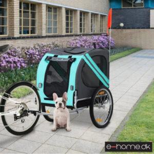 Cykeltrailer - Hundetrailer - grøn - grå - D00-098GN - e-home_TITEL
