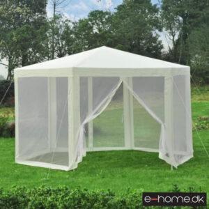 Havepavillon - 3-9x3-9 m - Creme - 84C-044CW - e-home_TITEL