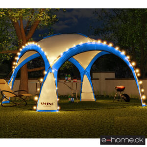 LED - Event pavillon - XXL - DomeShelter - Blå- 1034207854b - e-home_TITEL