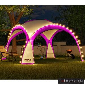 LED - Event pavillon - XXL - DomeShelter - Lyserød - 1034207854l - e-home_TITEL